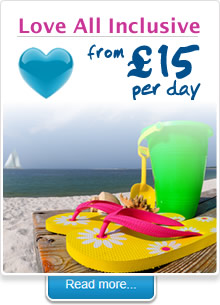 Love All Inclusive from 15 euros per day